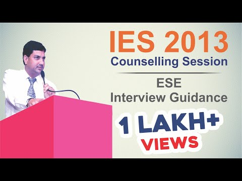 IES 2013 Counselling Session ESE Interview Guidance
