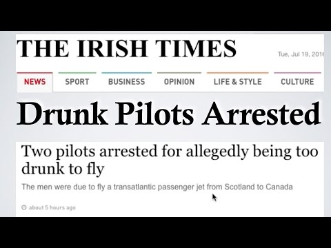Booze News: Air Transat Pilots Arrested for Being too Drunk to Fly