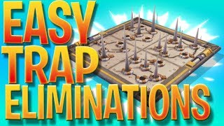 Easy Trap Eliminations - Fortnite Battle Royale Weekly Challenges - How To Get Easy Trap Kills