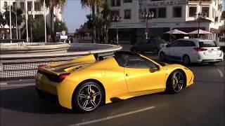 Supercars July 2017 Puerto Banus Marbella, Speciale Aperta, Aventador DMC, Superleggera, Murcielago,