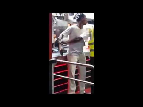 Gun Drawn in Burger King, in Half way Tree. Kingston , Jamaica 2016