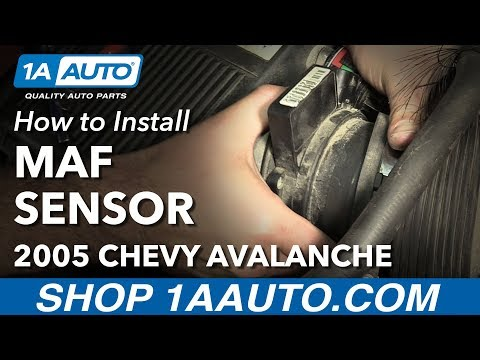 How to Install Replace MAF Mass Air Flow Sensor 2002-06 Chevy Avalanche 1500