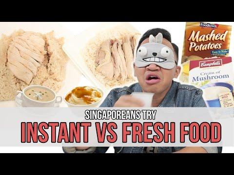 Singaporeans Try: Instant VS Fresh : Food | EP 72