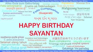 Sayantan   Languages Idiomas - Happy Birthday