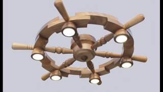 Steering wheel chandeliers / Люстры штурвалы