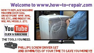 How to replace a moldy washing machine door seal on Hotpoint, Indesit, Ariston & Scholtes