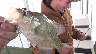 catching crappie on boat docks with crappie kickers
