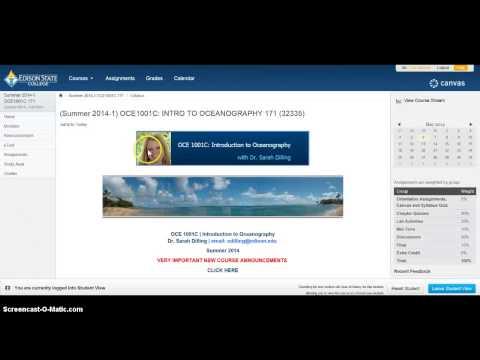 OCE1001C Online Course Navigation