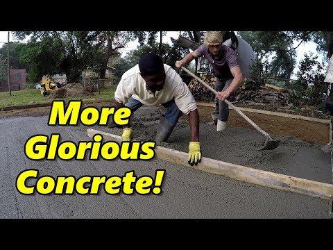New Garage & Patio Concrete