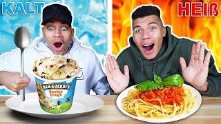 HEIß VS KALT CHALLENGE !!!   Kelvin und Marvin