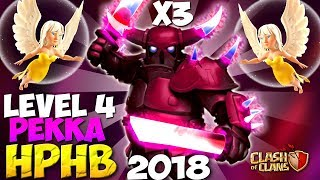 HPHB IS BACK: Level 4 PEKKA TH9 WAR ATTACK STRATEGY 2018 (NO BOWLERS) | Clash of Clans