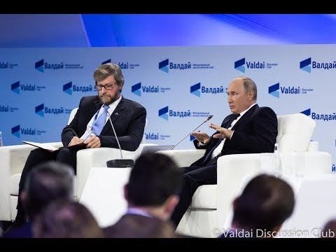 15th Annual Meeting Of The Valdai Discussion Club. Plenary Session With Vladimir Putin