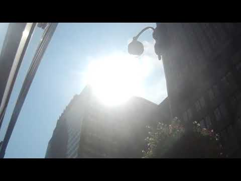 Solar Eclisse in Manhattan New York August 21st 2017 - Sun look like Moon