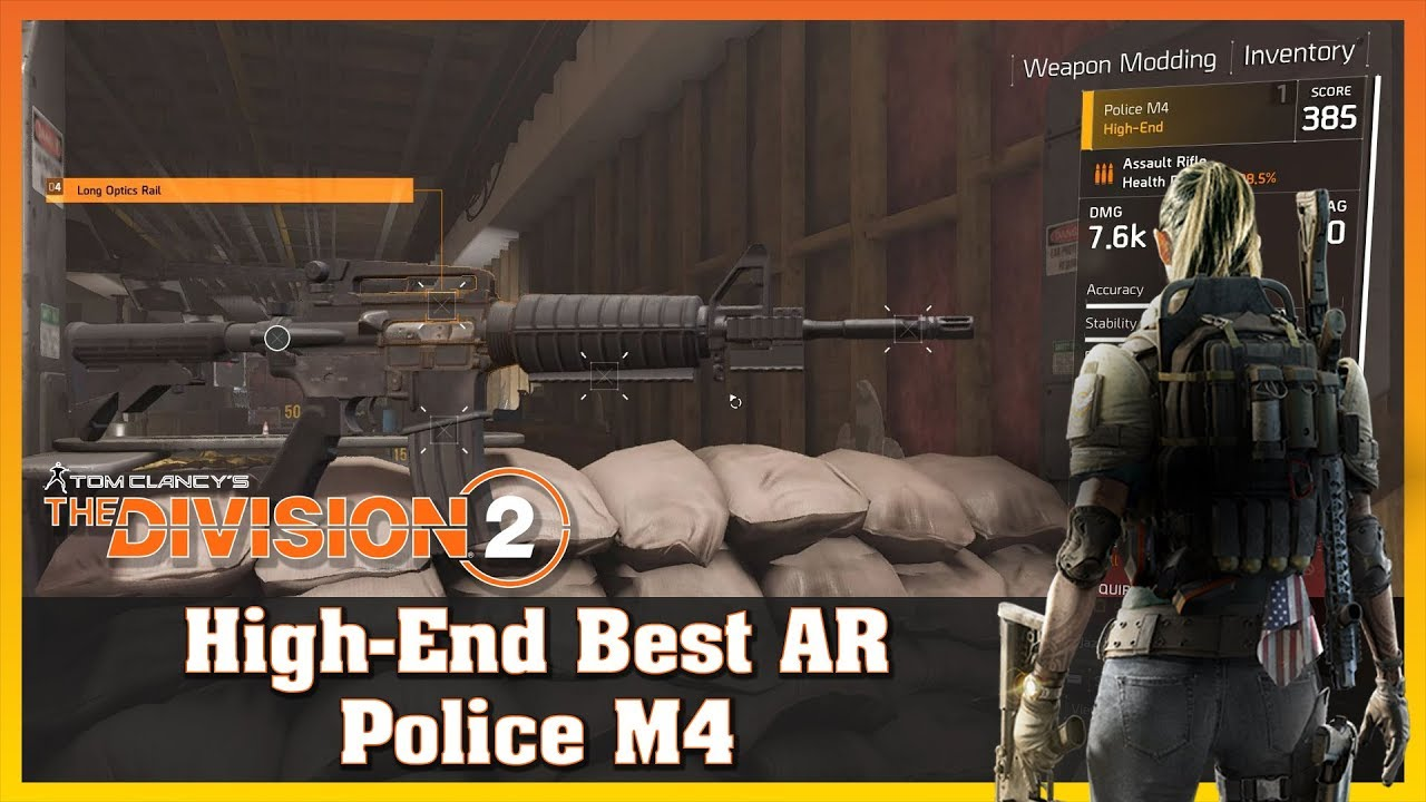 High-End | Police M4 | Best Assault Rifle | Firing Range Test | THE  DIVISION 2
