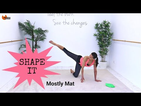 Total Body Workout Pilates Fusion Workout - Barlates Body Blitz Shape It Mostly Mat