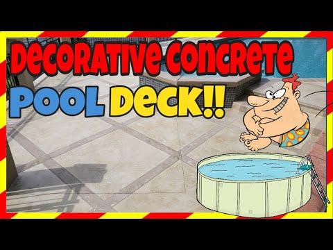 hqdefault - DECORATIVE CONCRETE POOL DECK 💦Decorative Concrete RESURFACING Pool DECK PATIO 💦 - Concrete Floor Pros