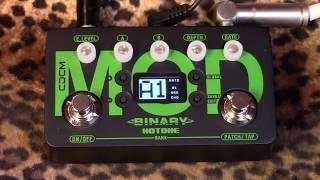 Hotone Binary Series MOD pedal of modulation motivation and taste