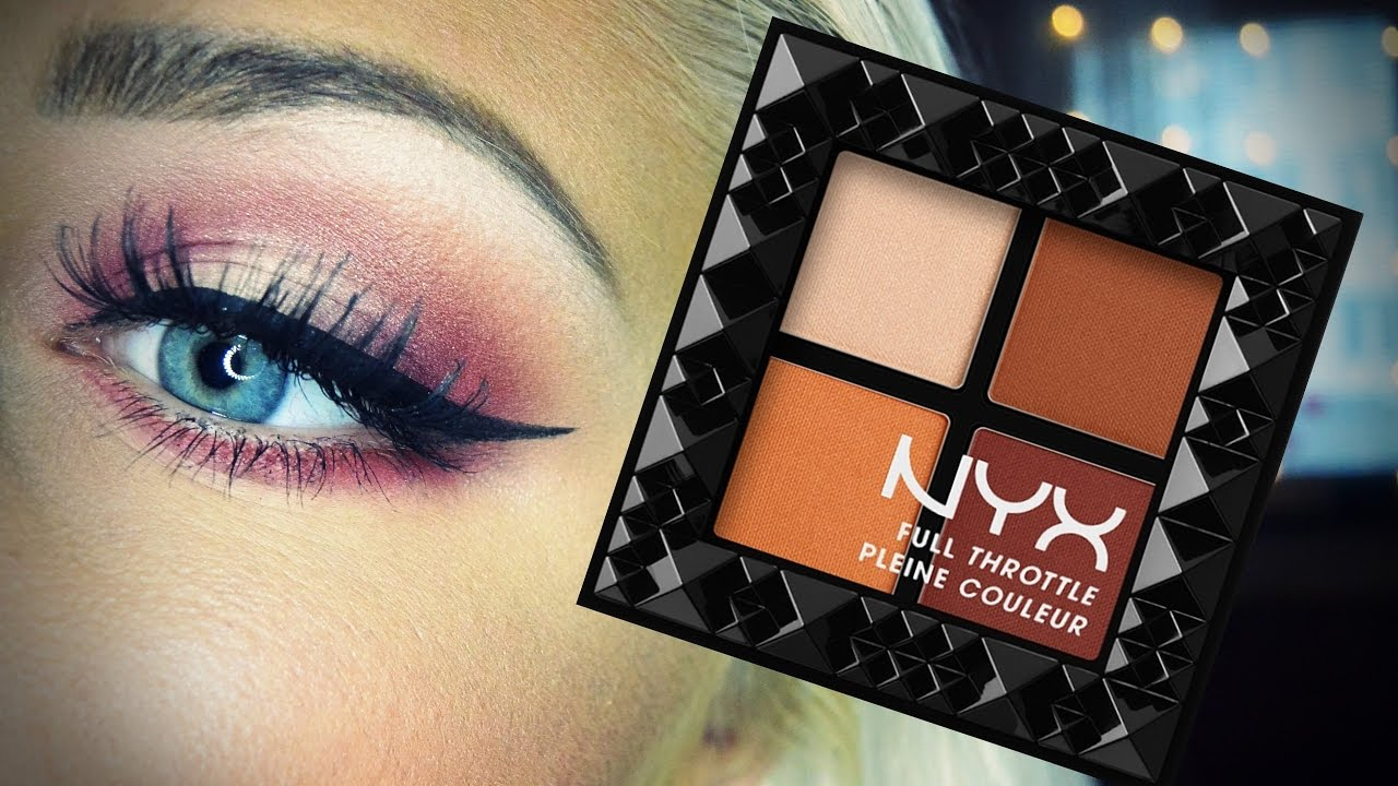 NYX full throttle eyeshadows makeup tutorial | Antonia ...  NYX full thrott...