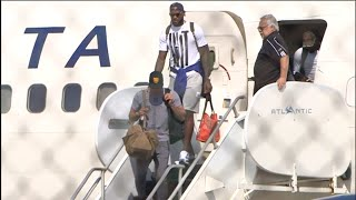 Cavaliers return from NBA Championship to Cleveland