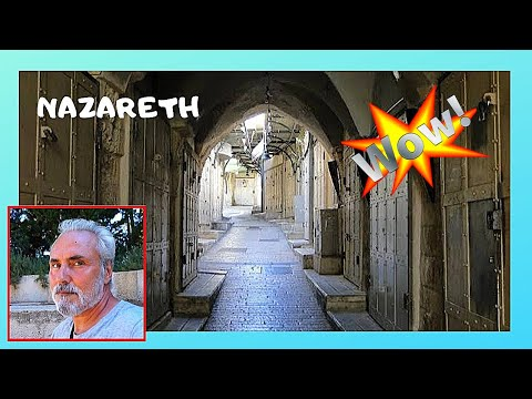 NAZARETH: The once famous, now abandoned ARABIC MARKET (SOUQS, BAZAAR)