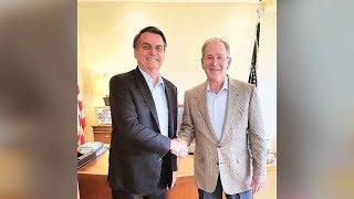 Bolsonaro se encontra com George W. Bush