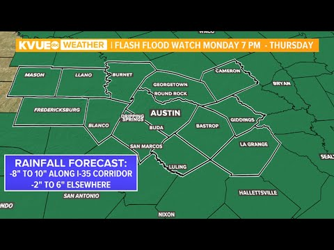 RADAR: Flash Flood Watch in effect in Central Texas until Thursday | KVUE