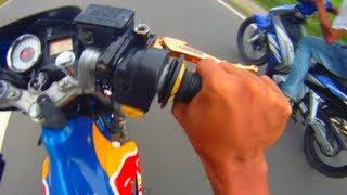 Redbull Suzuki Raider FU 150 Belang VS Yamaha Sniper  LC Drag Race HD Quality