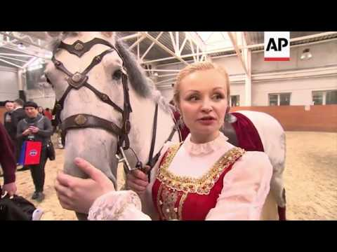Kremlin Horse Riding school rehearses ahead of German tour