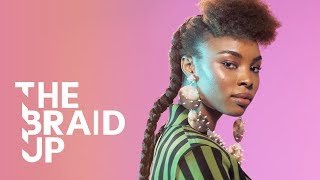Afro Puff with Loose Braids | The Braid Up | Cosmopolitan