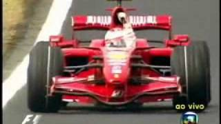 GP Brasil 2007 - Última Volta - Raikkonen Campeão Mundial - Rede Globo