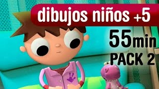 Videos dibujos animados +5  años. 1hora series tv - Pack 2