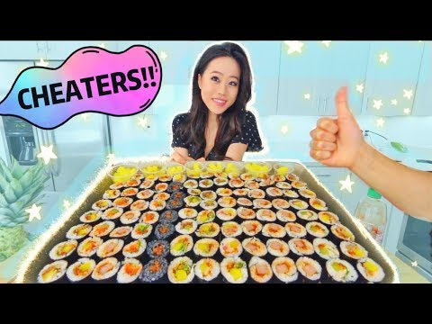 100 Korean Sushi MUKBANG | Eating Show