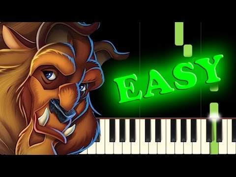BEAUTY AND THE BEAST - Easy Piano Tutorial