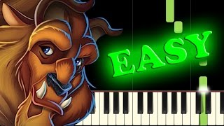 Video BEAUTY AND THE BEAST - Easy Piano Tutorial download MP3, 3GP, MP4, WEBM, AVI, FLV Juni 2018