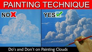 Do's and Don't on Painting Clouds by JM Lisondra