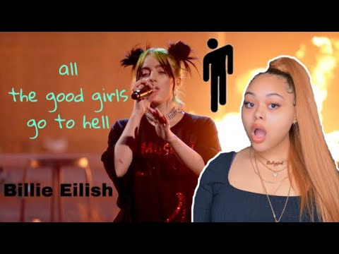"Billie Eilish "" All The Good Girls Go To Hell "" Live From The American Music Awards ! REACTION!!"