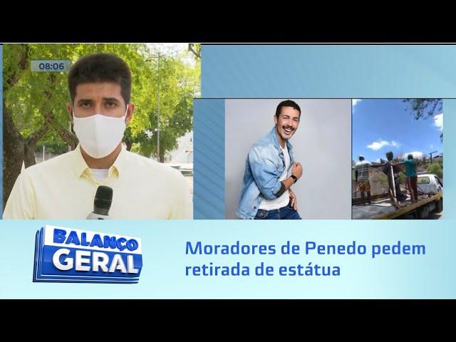Moradores de Penedo pedem retirada de estátua em homenagem ao influenciador digital