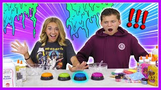 Don't Push the Wrong Button Slime Challenge | Kayla Davis