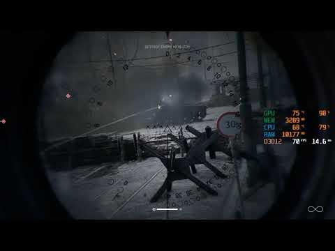 GTX 1650 SUPER + I3 9100F - Battlefield V / 5 - 1440p - All Settings Benchmark FPS Test