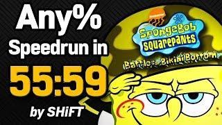 SpongeBob SquarePants: Battle for Bikini Bottom Any% Speedrun in 55:59 (WR on 7/17/2018)