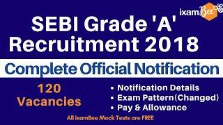 SEBI Grade A Officer - 2018 Notification Details, Exam Pattern and Pay & Allowances