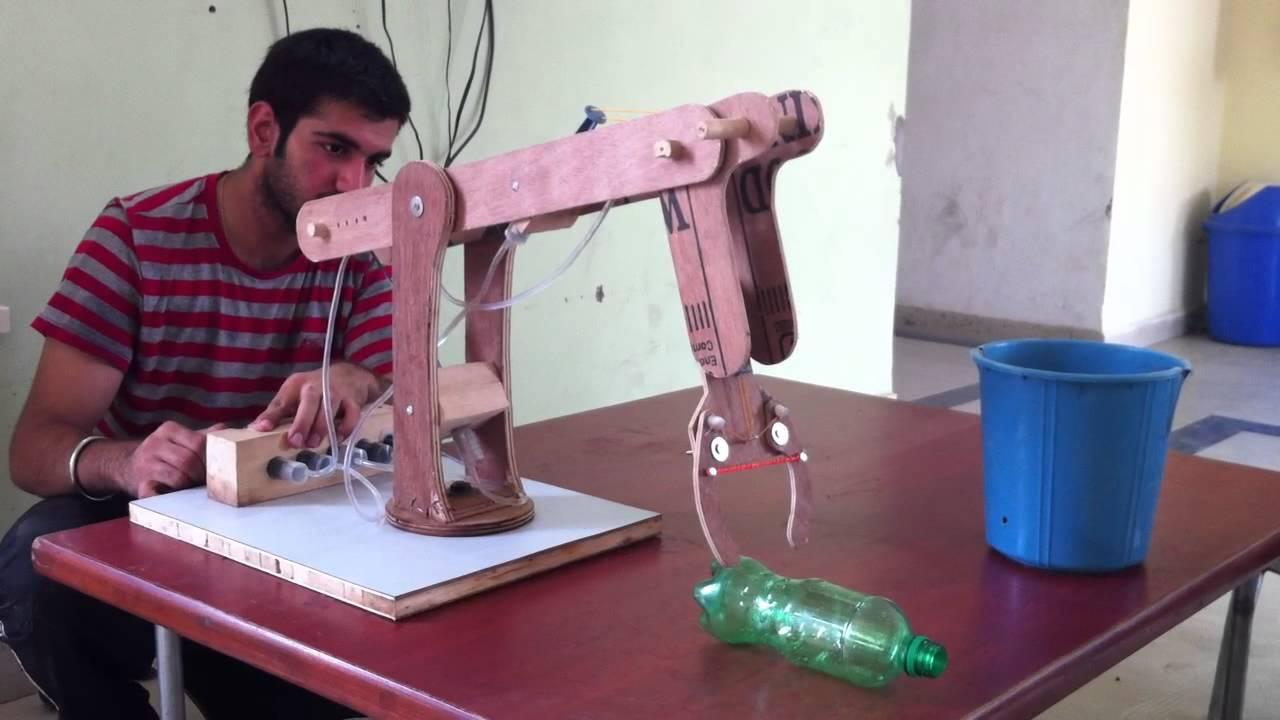 Engineering Mechanical Arm Syringe : Syringe actuated mechanical arm youtube