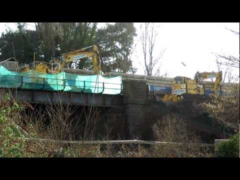 Class 66129 with waggons at Dorking Deepdene 26/02/12 part 3