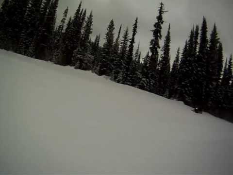 Roy skiing at Sun Peaks Ski Resort (with music)