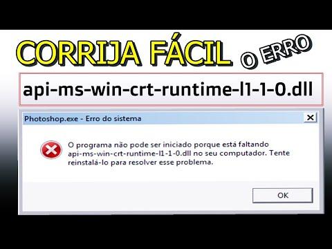 Como corrigir rapidamente o Erro api-ms-win-crt-runtime-l1-1-0.dll  no PC Windows 7, 8 1 e 10   2019