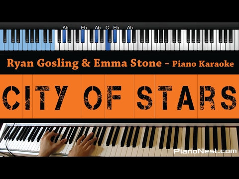 Ryan Gosling & Emma Stone - City of Stars - LOWER Key (Piano Karaoke / Sing Along)