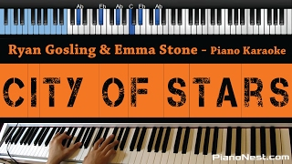 Ryan Gosling & Emma Stone - City of Stars - LOWER Key (Piano Karaoke / Sing Along)