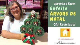 Preparando o Natal – Faça um lindo enfeite de Árvore reutilizando CDs