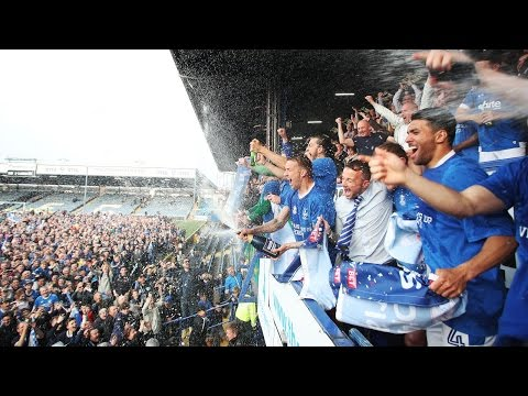 Portsmouth FC 6  -  1 Cheltenham Town + Pitch Invasion + Promotion + Winning The Title.