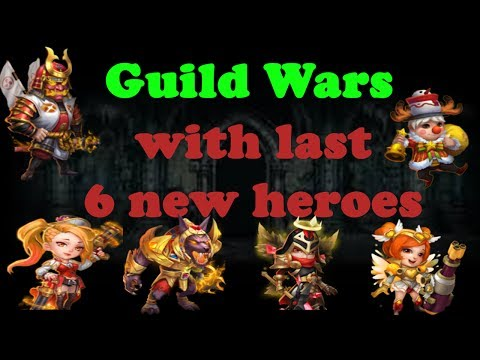 Castle Clash Guild Wars With Last 6 Heroes Ingame! Gunslinger, Anubis, Ronin